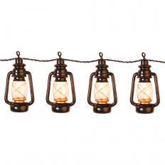 """Guirlande lumineuse """"lanternes à huile"""" à LED"""