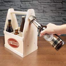 Porte-bières avec décapsuleur