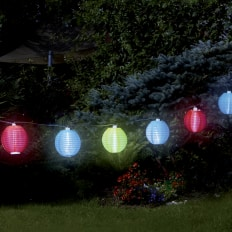 Guirlande à lampions solaire