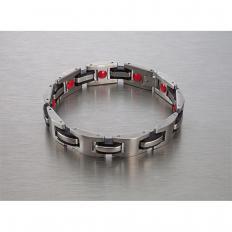 "Bracelet magnétique en titane ""Red Power"""