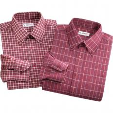 Chemises à carreaux en flanelle par 2