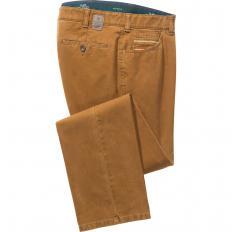 Pantalon en coton avec fini cachemire