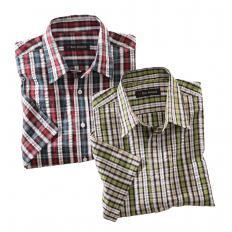 Chemise à carreaux en Seersucker