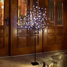 Arbre lumineux d'extérieur à LED