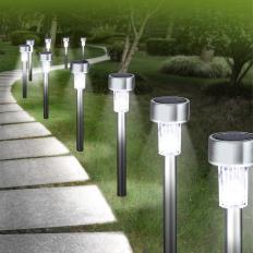 10 lampes solaires à LED