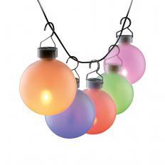 Boules de soirée lumineuses d'extérieur à LED Lot de 5