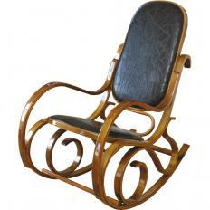 Chaise à bascule en cuir