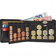 Porte-monnaie en cuir avec trieur de pièces