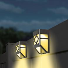 Éclairage de clôture à LED (lot de 4)