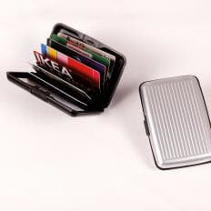 Porte-cartes en aluminium