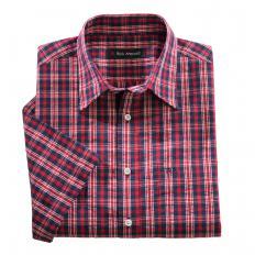 Chemise gaufrée à carreaux