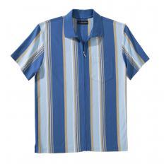 Polo jersey entièrement zippé