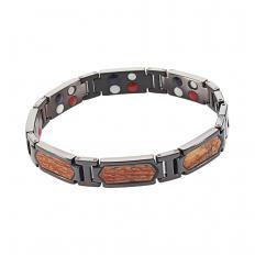 Bracelet en titane avec du bois de rose
