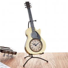 Horloge de table guitare