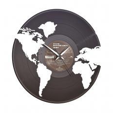 """Pendule vinyle  """"Continents"""""""
