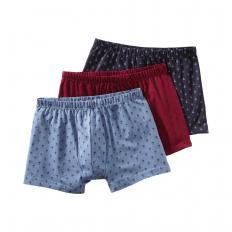 Lot de 3 boxers coton Lot de 3
