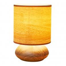 Lampe tactile aspect bois