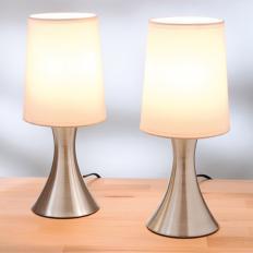 """Lampes acier  """"Touch"""" Lot de 2"""