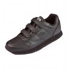 Chaussures de sport en cuir à velcros