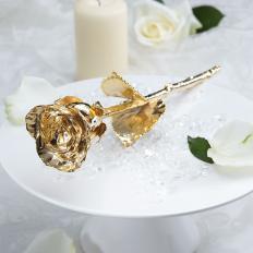 Rose plaquée or