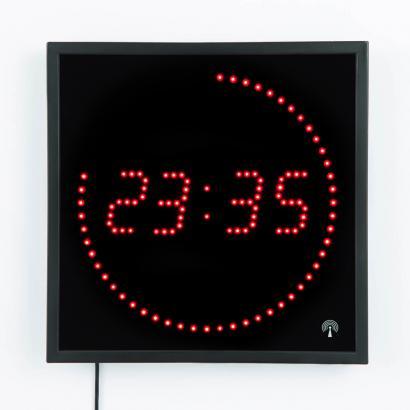 Horloge murale led radiocommand e achetez ce produit horloge murale led radiocommand e en for Horloge led murale