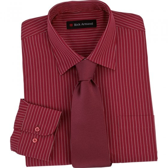 Chemise avec cravate XXL | Bordeaux