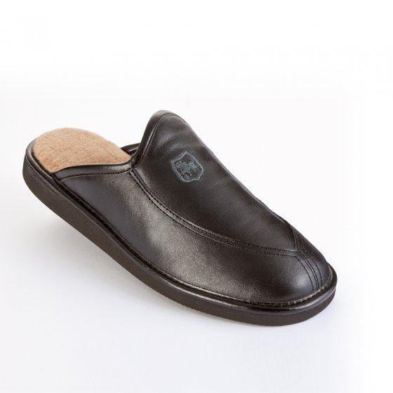 Chaussons luxe en cuir « ultra légers » 43 | Marron
