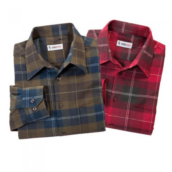 Chemises en flanelle par 2