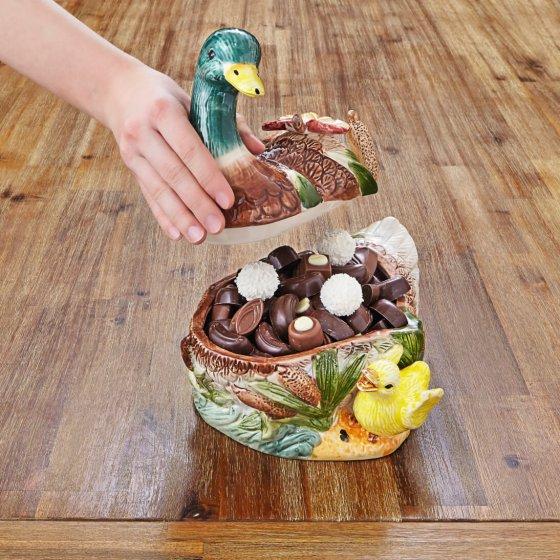Canard en céramique avec caneton