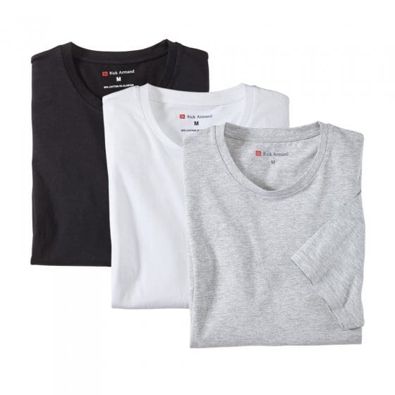 T-shirts stretch en lot de 3