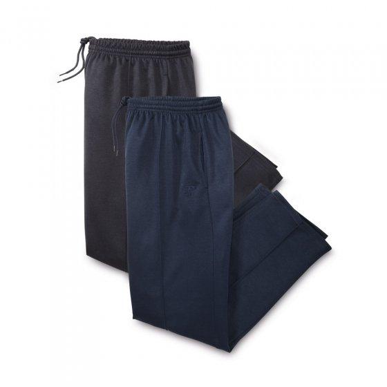 Pantalon de loisir passepoilé Lot de 2  44 | Marine#Noir
