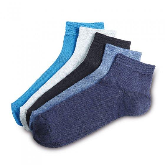 Chaussettes à tige courte Lot de 5  39/42 | Couleursassorties