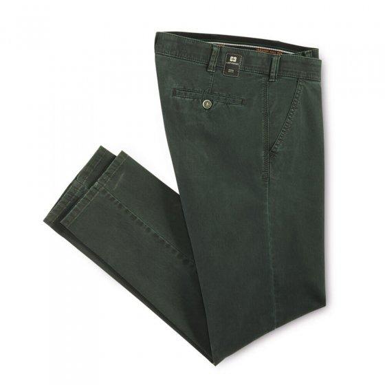 Pantalon en coton high-stretch 52 | Vertfoncé