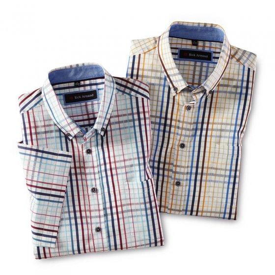 Chemise d'été à carreaux