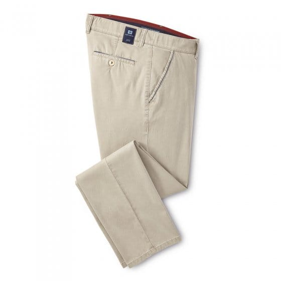 Pantalon en coton high stretch