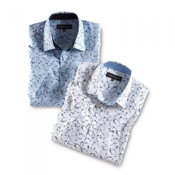 Blanc-imprimé + bleu clair-imprimé en lot XL | Blanc-imprimé#Bleuclair-imprimé