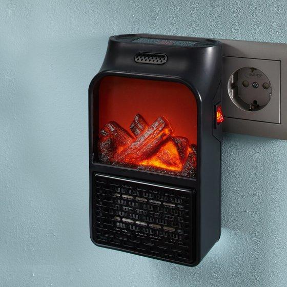 Radiateur prise murale avec simulation de flamme