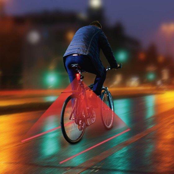 Feu arrière LED avec tracé de piste cyclable