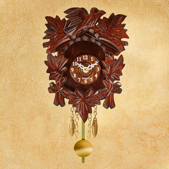 Horloge miniature en bois de la Forêt Noire