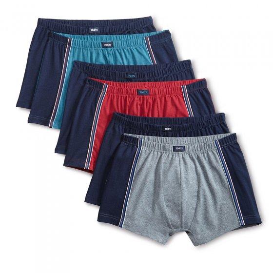Boxers rétro en coton Lot de 6