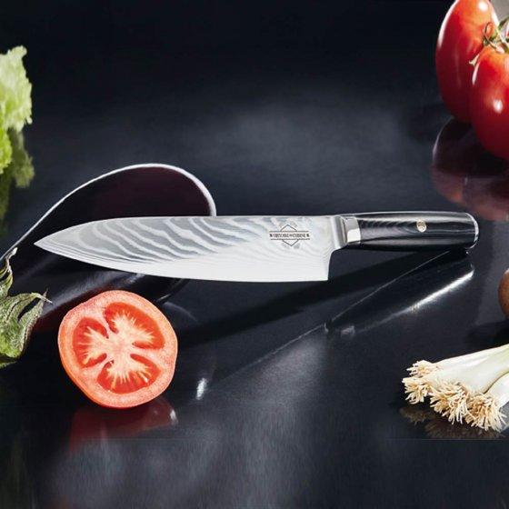 """Jeu de couteaux damassés  """"Histoire de Cuisine"""""""