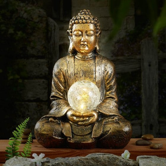 Bouddha illuminé solaire