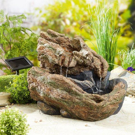 """Fontaine solaire  """"tronc d'arbre"""""""