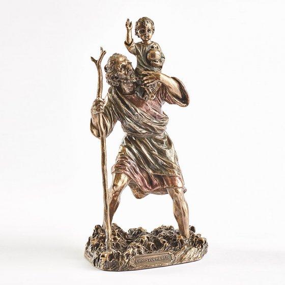 Statuette de Saint-Christophe avec l'enfant Jésus