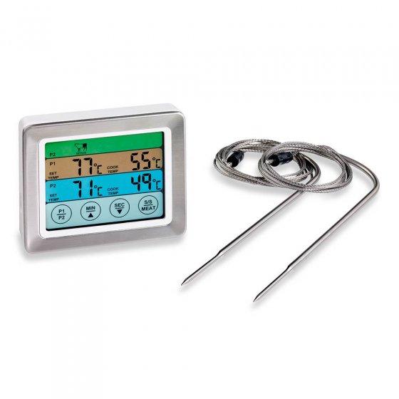 Thermomètre de cuisson à 2 sondes