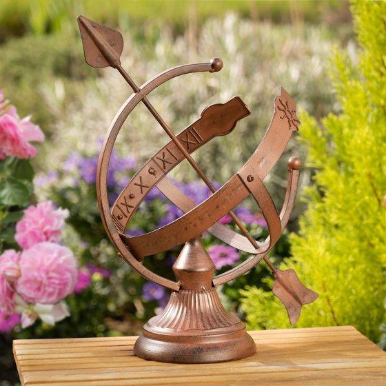 Cadran solaire décoratif imitation rouille
