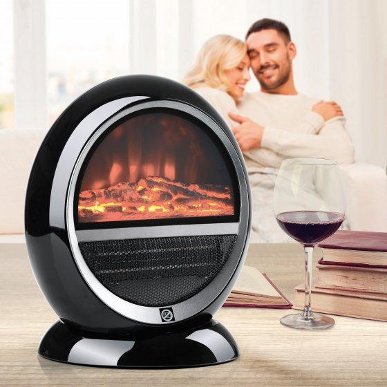 Chauffage rayonnant aspect cheminée