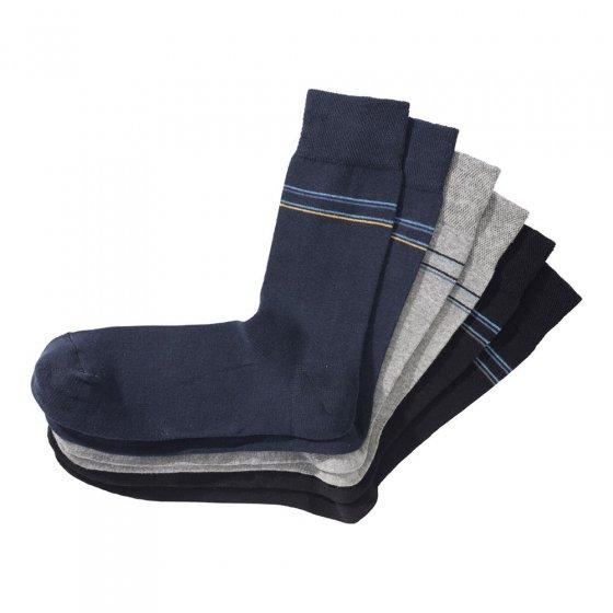 Luxueuses chaussettes en coton par lot de 6 paires
