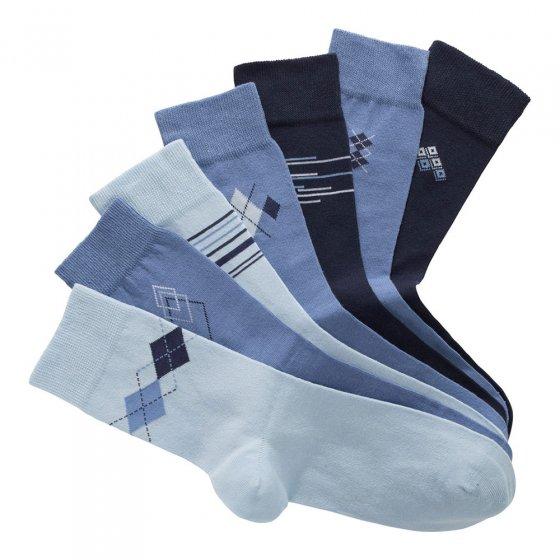 Chaussettes en coton stretch Lot de 7