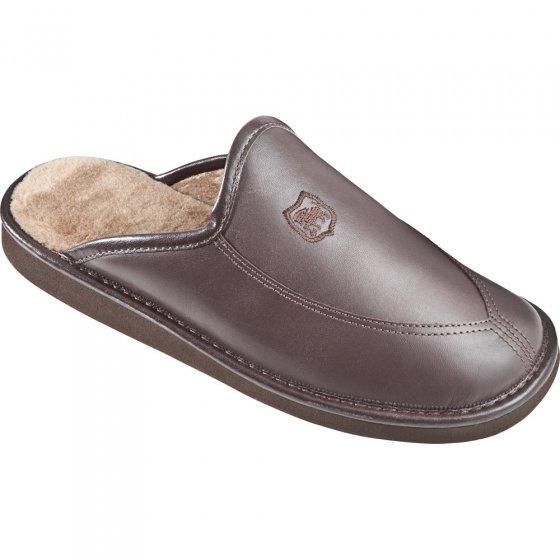 Chaussons luxe en cuir « ultra légers » (marron)